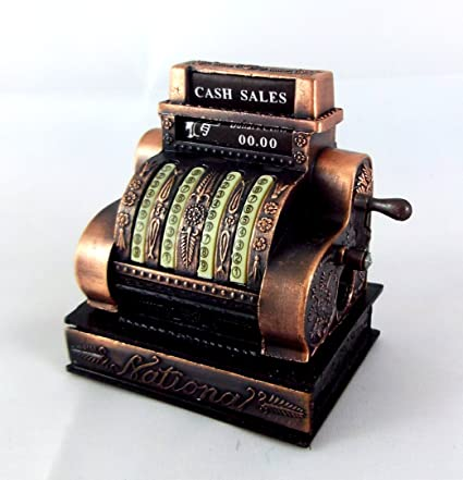 DOLL HOUSE MINIATURE OLD FASHIONED CASH REGISTER METAL