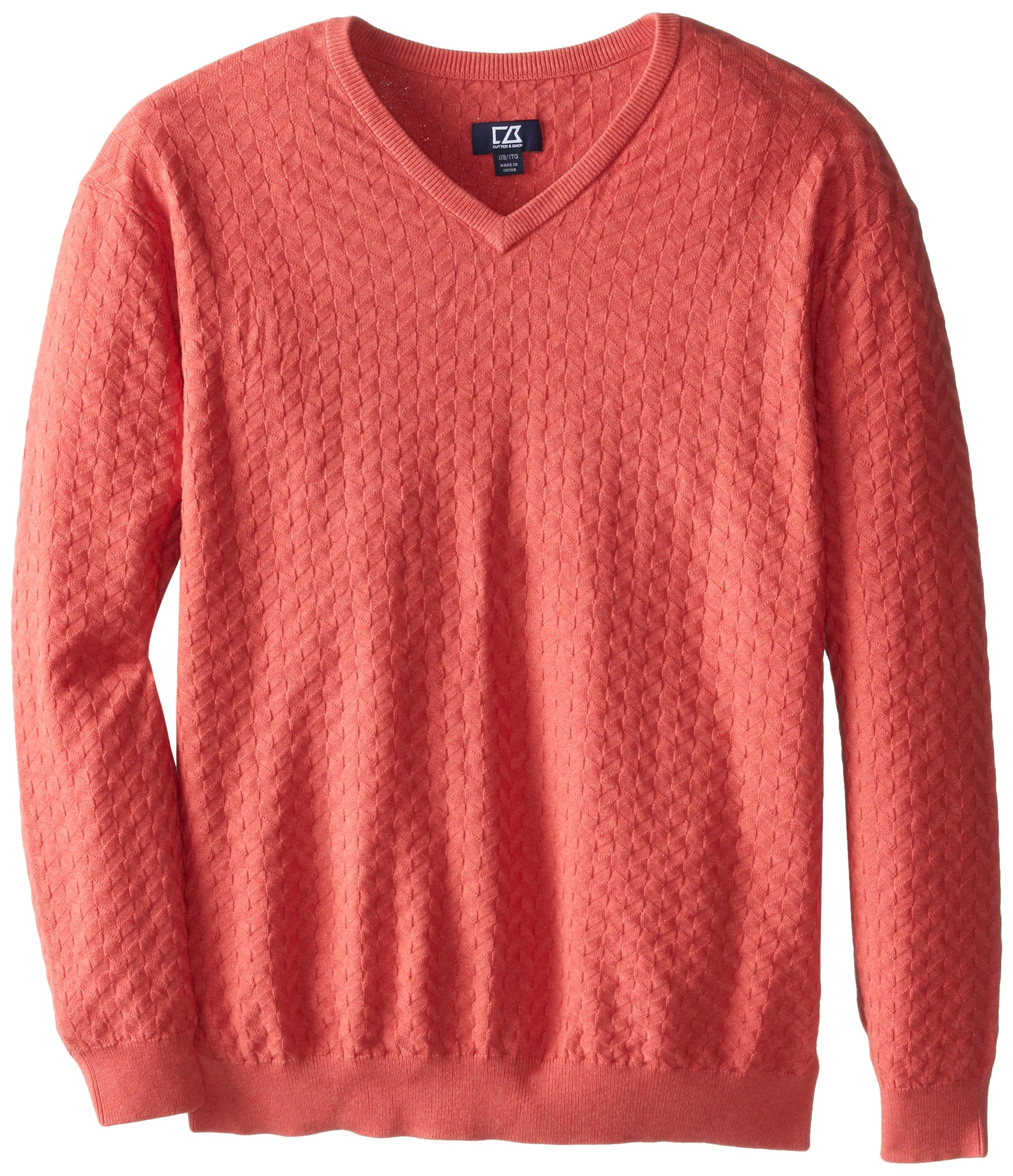 Cutter & Buck Men's Big-Tall Mitchell V-Neck Sweater, Fairmount, 3X/Tall