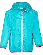 Playshoes Kinder Regenjacke mit Kapuze, faltbare Funktions-Jacke für Mädchen und Jungen