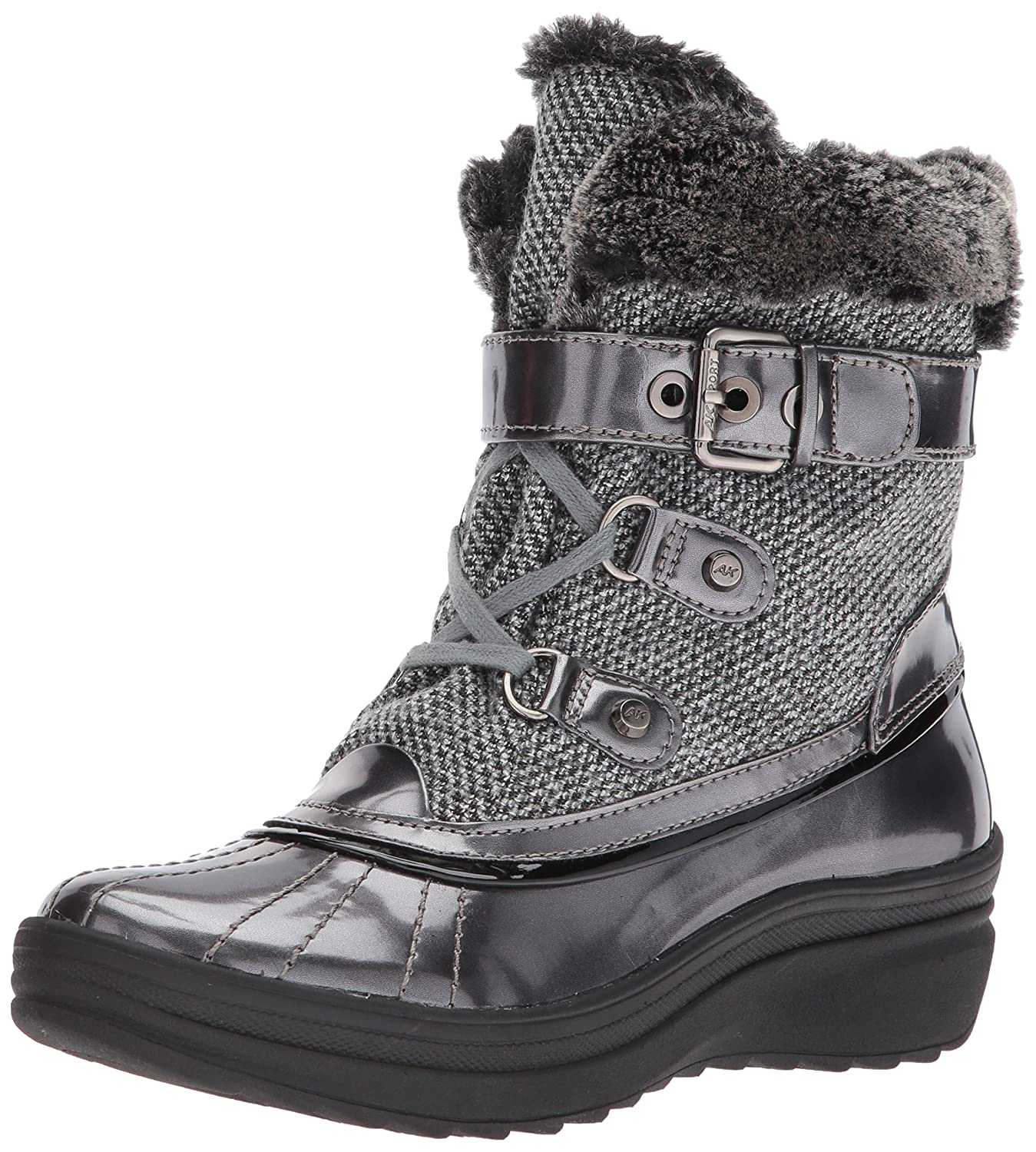 Anne Klein Women's Gallup Fabric Snow Shoe B071NNVNKN 8.5 B(M) US|Grey/Multi Fabric