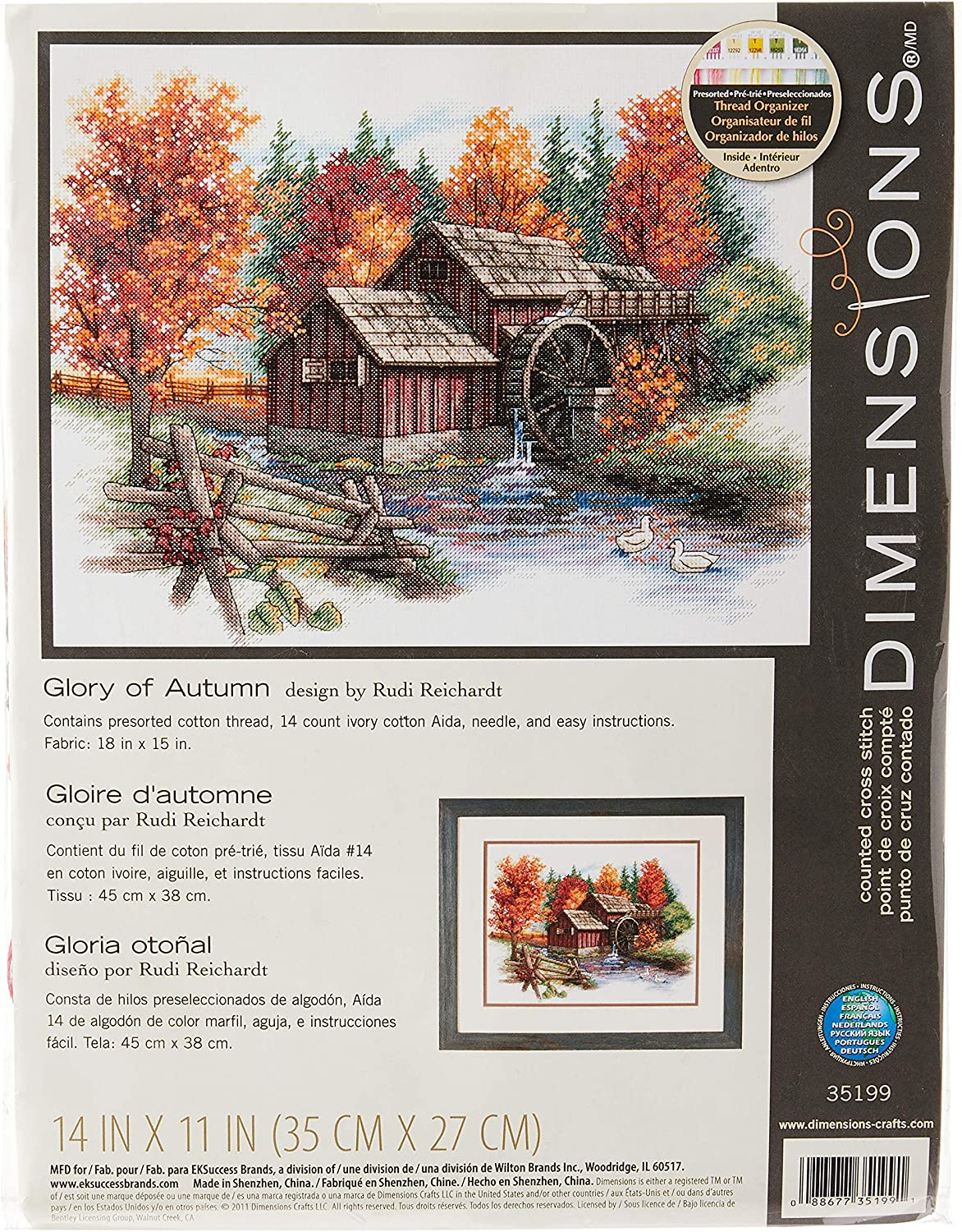 Counted Cross Stitch Kit CLASSIC DESIGN Garden house