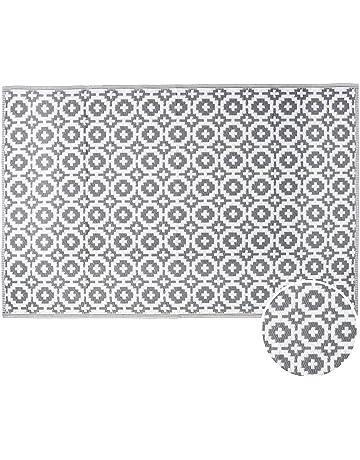 butlers colour clash outdoor teppich mosaik 180x120 cm in schwarz wei flachgewebe teppich