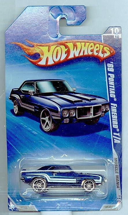 HOT WHEELS 2010 MUSCLE MANIA 10 OF 10 TEAL 69 PONTIAC FIREBIRD T//A