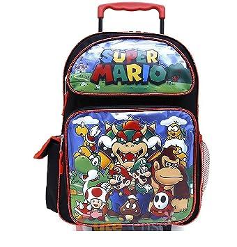 Amazon.com   2018 Super Mario School Roller Backpack 16