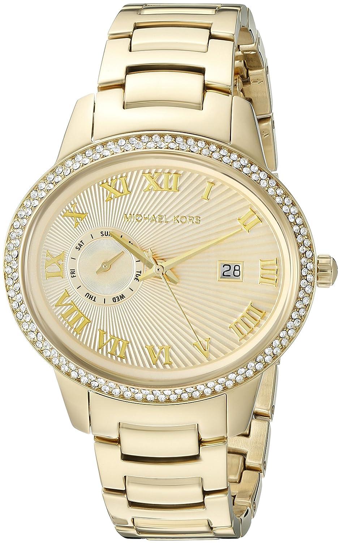 786dbc7cc023 Amazon.com  Michael Kors Women s Whitley Gold-Tone Watch MK6227  Michael  Kors  Watches