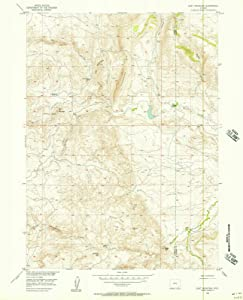 1955 Goat Mountain, WY - Wyoming - USGS Historical Topographic Map : 44in x 55in