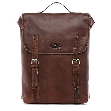 7b1dcd53acabfb SID & VAIN Rucksack echt Leder Eton groß Backpack Tagesrucksack  Kurierrucksack Fahrradrucksack 15,6 Zoll
