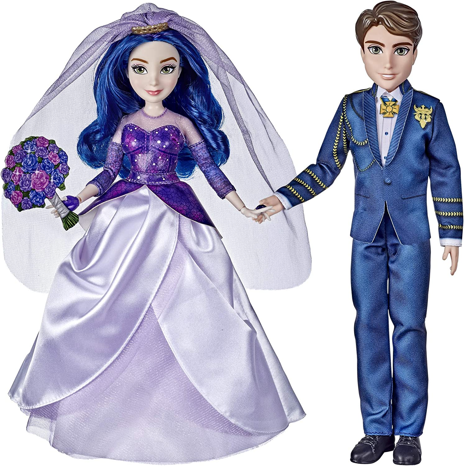 Amazon Com Disney Descendants Mal And Ben Dolls Inspired By Disney The Royal Wedding A Descendants Story Toys Include Outfits Shoes And Fashion Accessories Toys Games