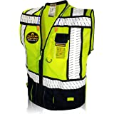 KwikSafety (Charlotte, NC) SPECIALIST (Multi-Use Pockets) Class 2 ANSI High Visibility Reflective Safety Vest Heavy Duty…