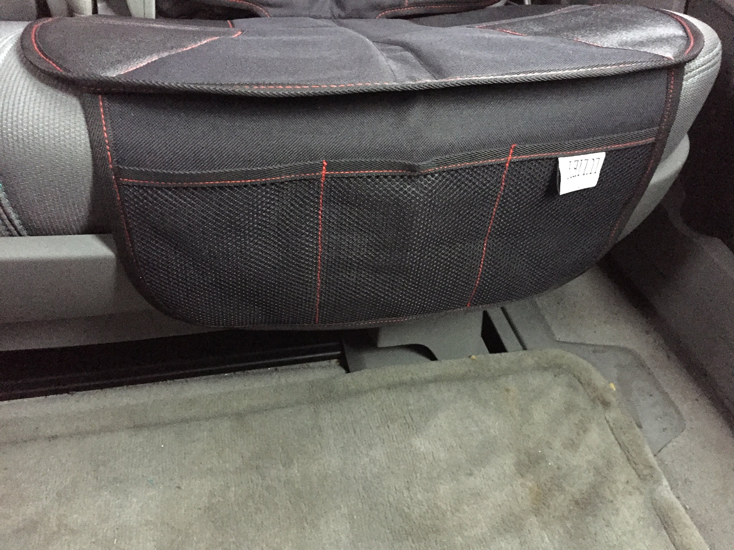 PREMIUM OXFORD Luxury Car Seat Protector - Durable 600D OXFORD Material, Black Leather by Luliey (Image #5)