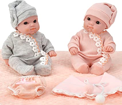 Hand Crocheted Hats 6pc For American Girl Doll Clothes Lot 4
