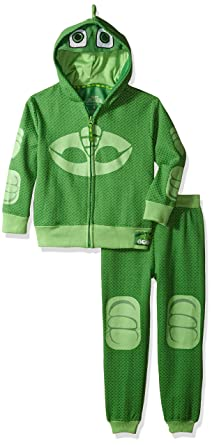 PJ MASKS Boys Little Gecko Hoodie and Jogger Set, Green, ...
