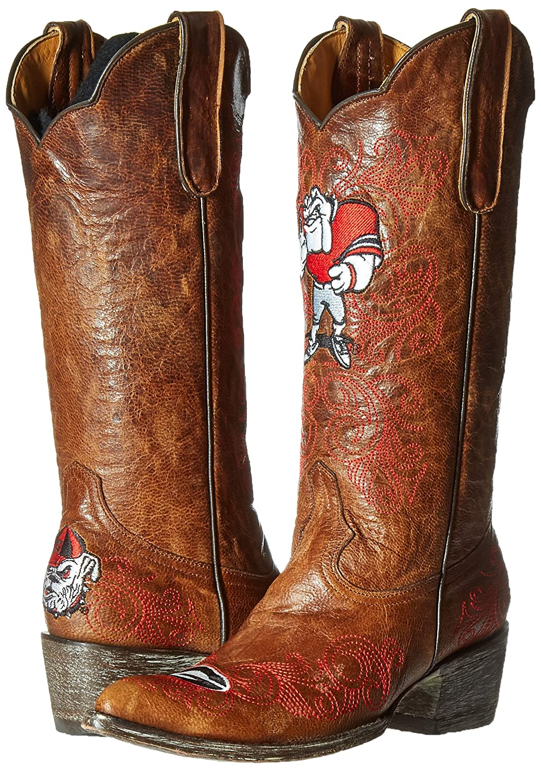 Gameday Boots NCAA Georgia Bulldogs Women's 13-Inch B0094Z6K7Y 7.5 B (M) US|Brass