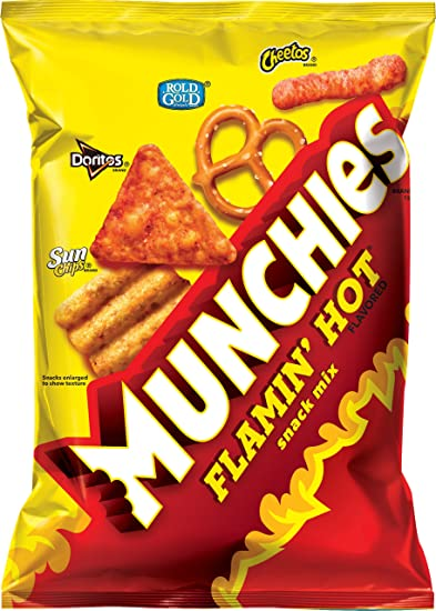 Munchies Snack Mix, Flamin Hot, 8 Ounce