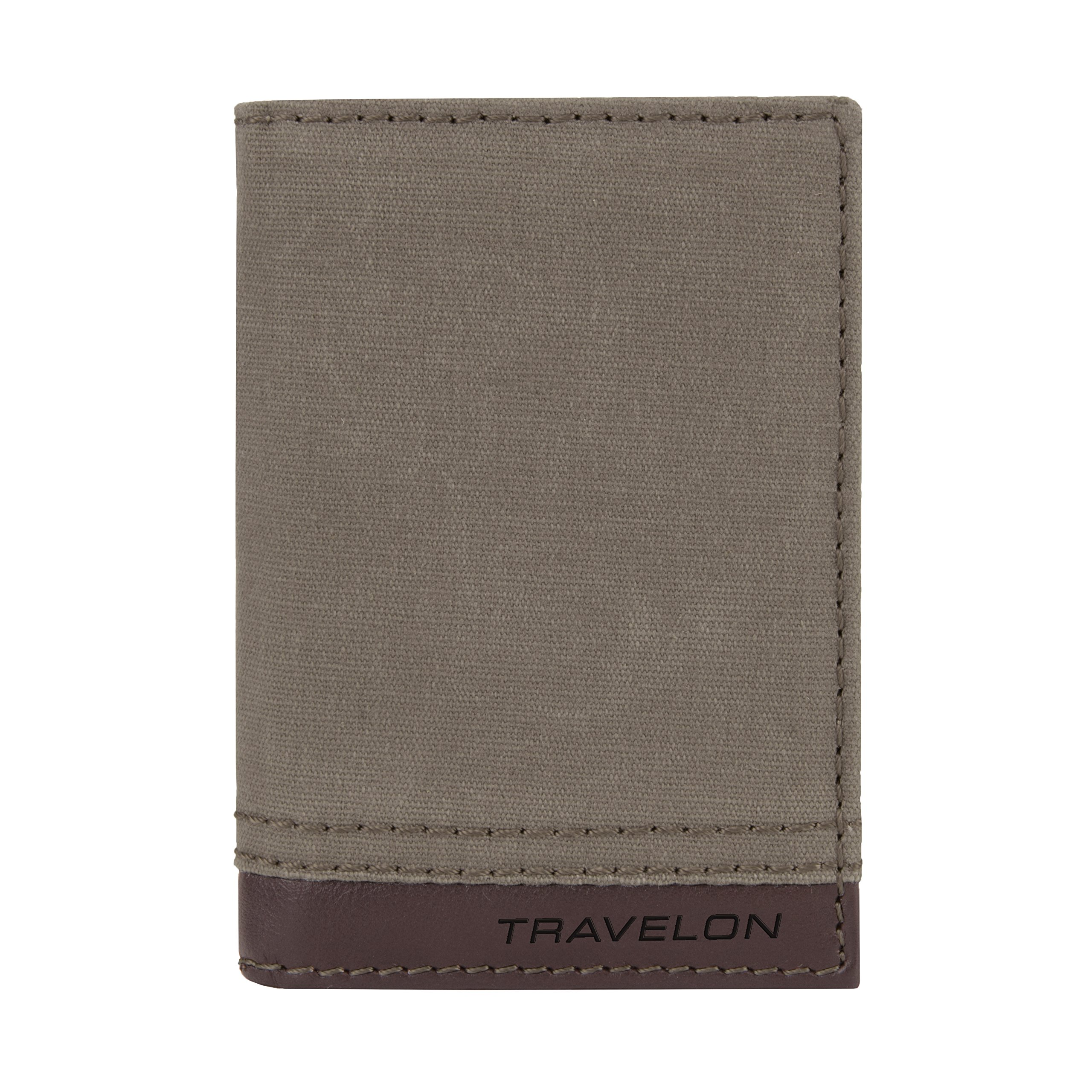 Travelon Rfid Blocking Courier Slim Wallet, Stone Gray