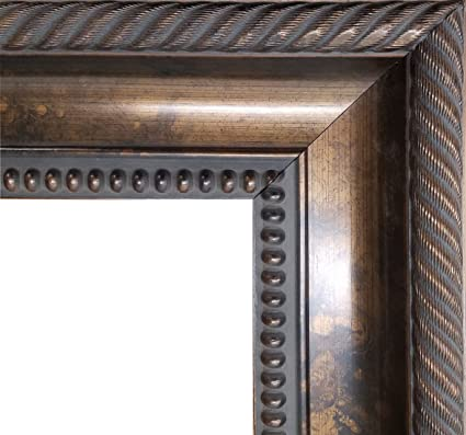 Amazoncom Tuscan Ornate Antique Copper Bead Picture Frame 27 12