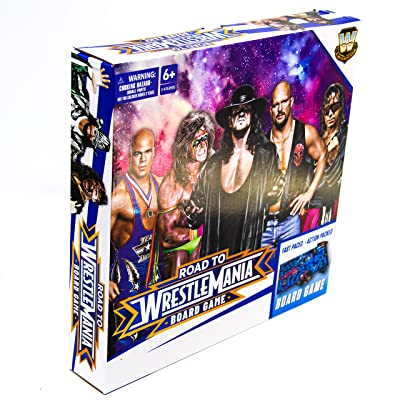 WWE Road to Wrestlemania Board Game - Fast Pace Action Packed Boardgame - Contains WWE Legends: Toys & Games