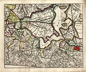 Antique Map-Netherlands-NORTH HOLLAND-HAARLEM-De Leth-1740: Amazon ...