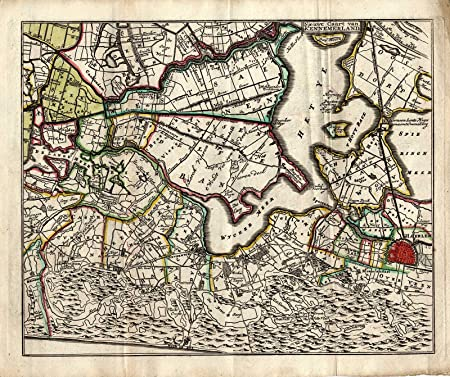 ThePrintsCollector Antique Map-Netherlands-North Holland ...