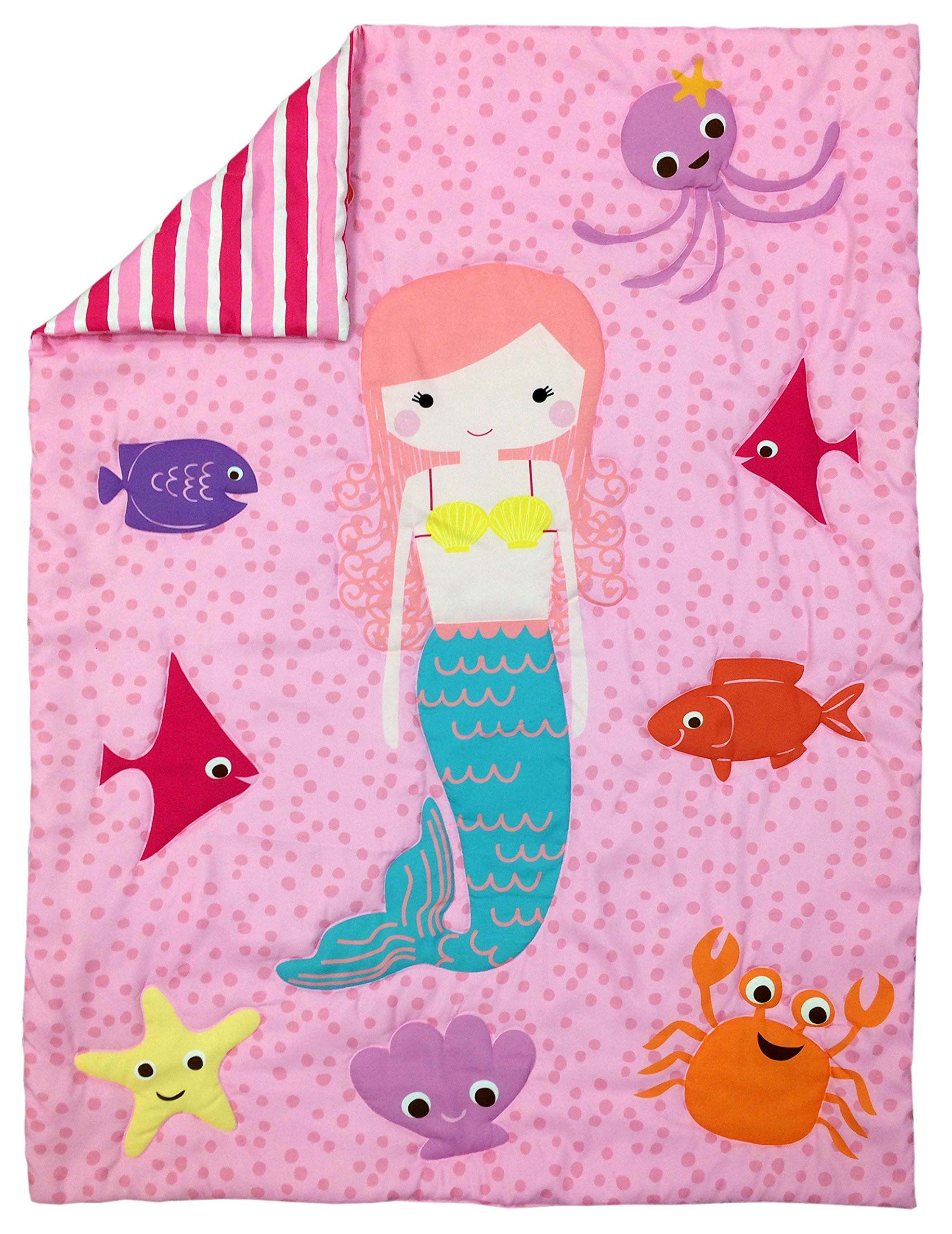 Little Tikes 4 Piece Mermaid Toddler Bedding Set 5