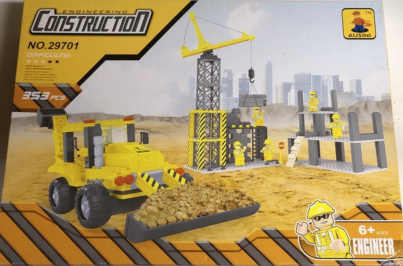 Ausini CONSTRUCTION 29701 - SET COSTRUZIONI CON GRU - 353 PEZZI