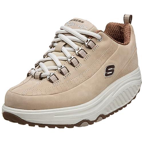 Skechers 11801 STBR_ - Zapatillas de Deporte de Cuero Nobuck para Mujer, Color Gris, Talla 35.5: Amazon.es: Zapatos y complementos