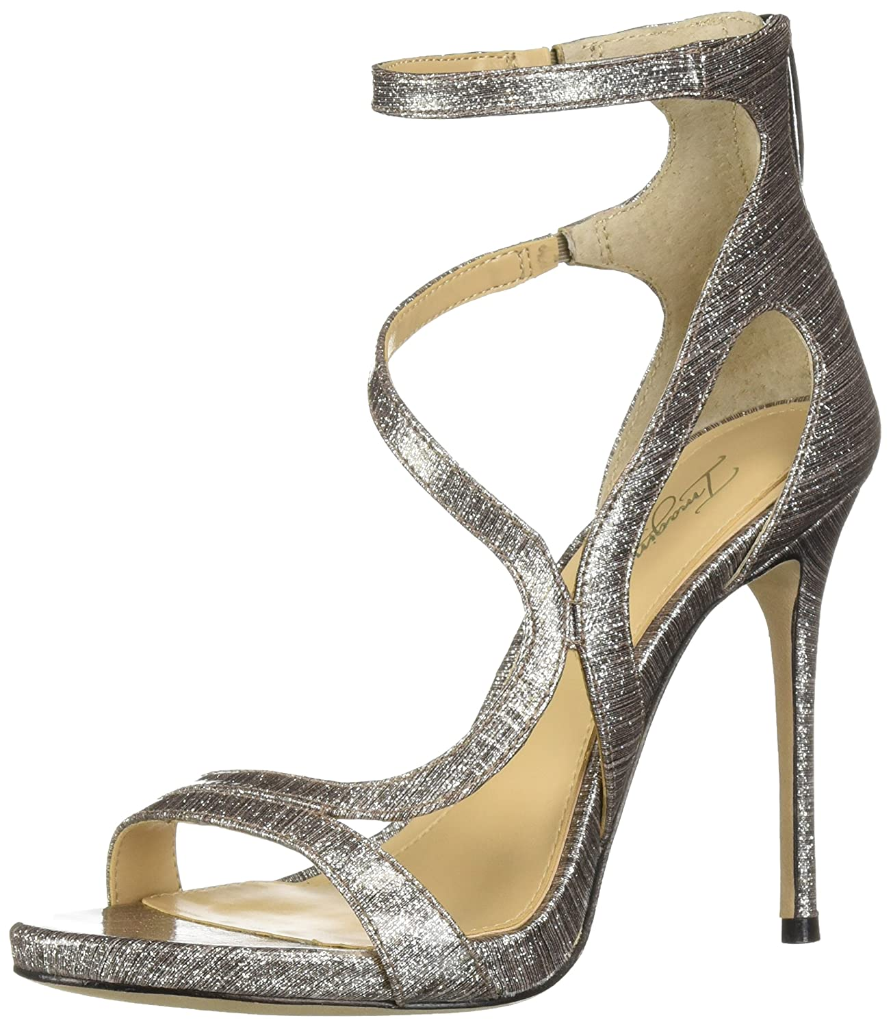 Platinum Imagine Vince Camuto Womens Demet Heeled Sandal