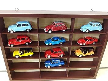 Générique Lot se composant de: 1 MEUBLE à ETAGERES + 10 voitures Miniatures françaises Scale