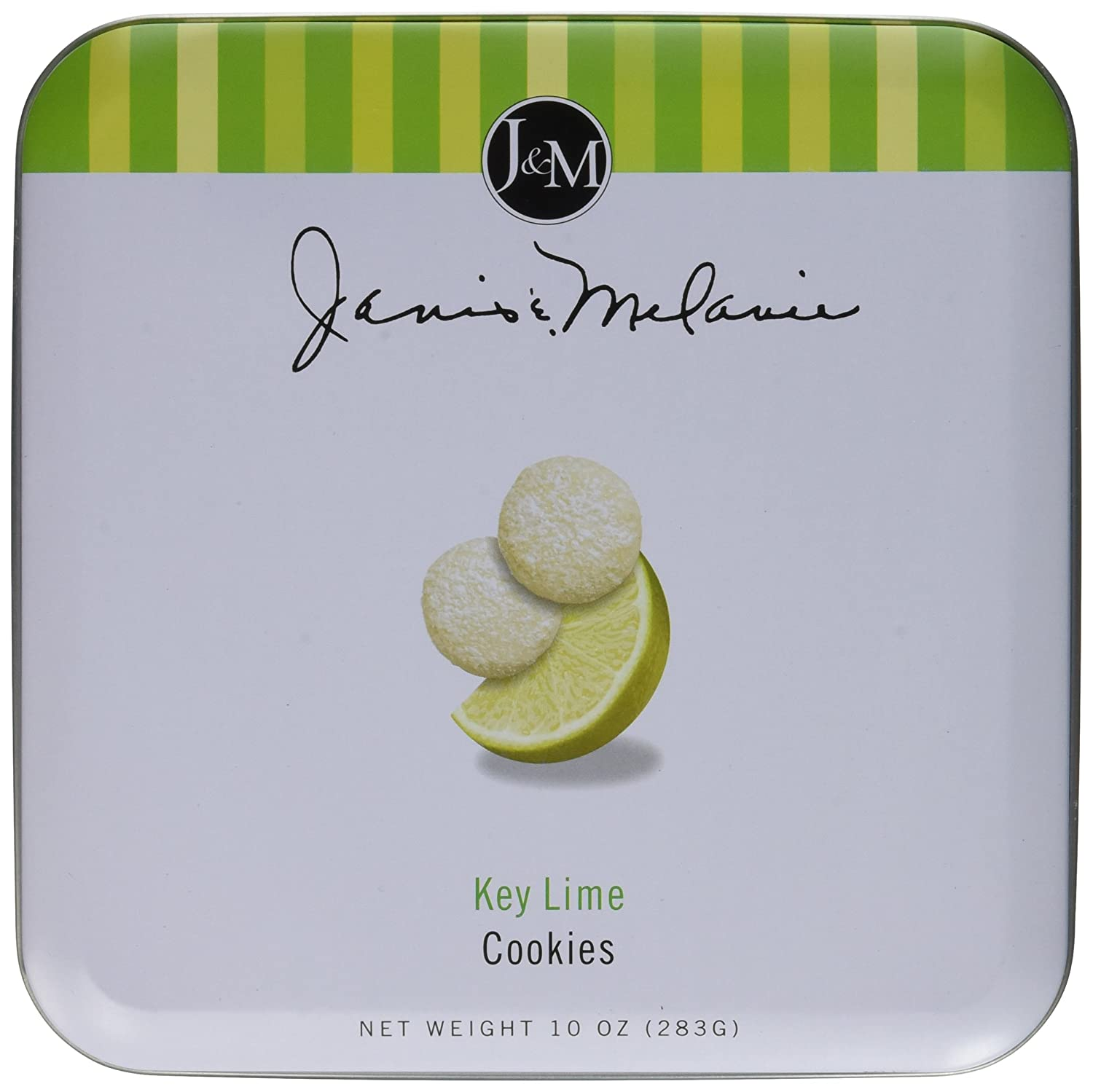 J&M Foods Key Lime Cookies, 10 Ounce Tin