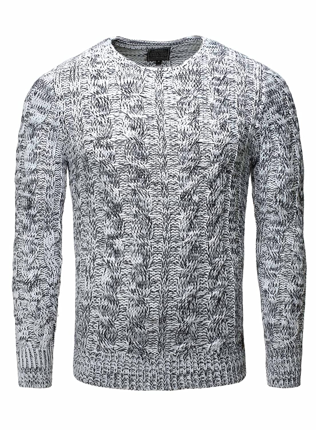 Knitted Jumper Men Sweater Carisma white
