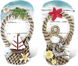 CoTa Global Flip Flops - 3D Designs - Nautical Beach Magnet (2pc Set) - Item #7349