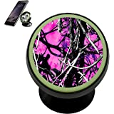 Muddy Girl Camo Pink Car Magnetic Phone Holder Mobile Bracket Car Mount Holder Fits 360 Rotation for iPhone Galaxy and other Universal Smartphones