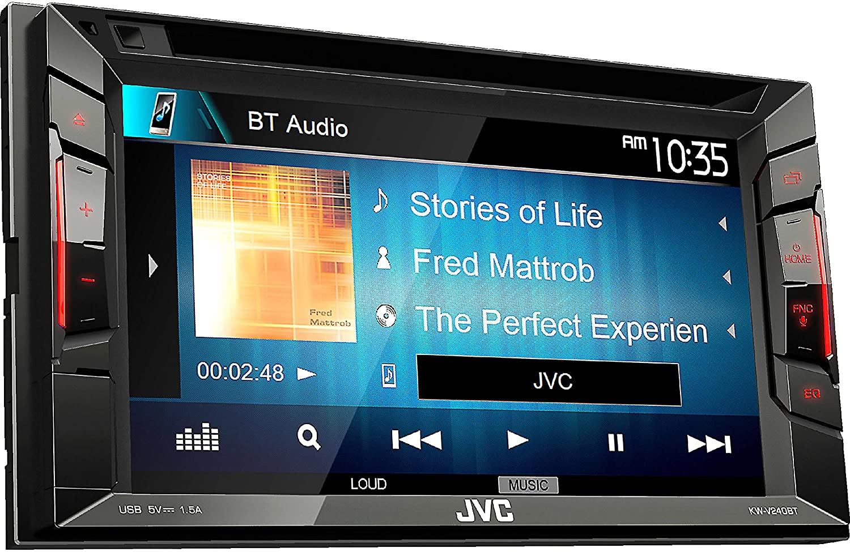 Radio para Coche JVC KW-X830BT 50W Bluetooth Negro Receptor Multimedia para Coche Am,FM, 87,5-108 MHz, 531-1611 kHz, 2 l/íneas, LCD, Negro
