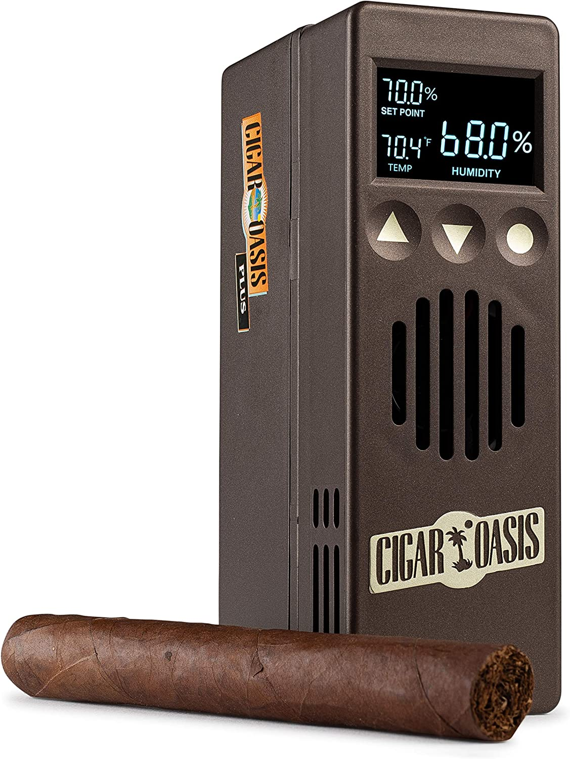 Cigar Oasis Plus 3.0 Electronic Humidifier for 4-10 cubic ft. (500-1500 Cigar Humidors) small cabinet & end-table humidors – The original set it and forget it humidification solution for any style cigar