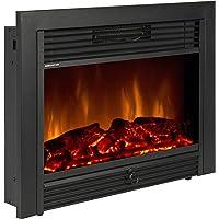 Mejor Elección Productos sky1826Embedded Chimenea eléctrico Calentador de Insert Vidrio View Log Flame Mando a Distancia Home, 72,4cm