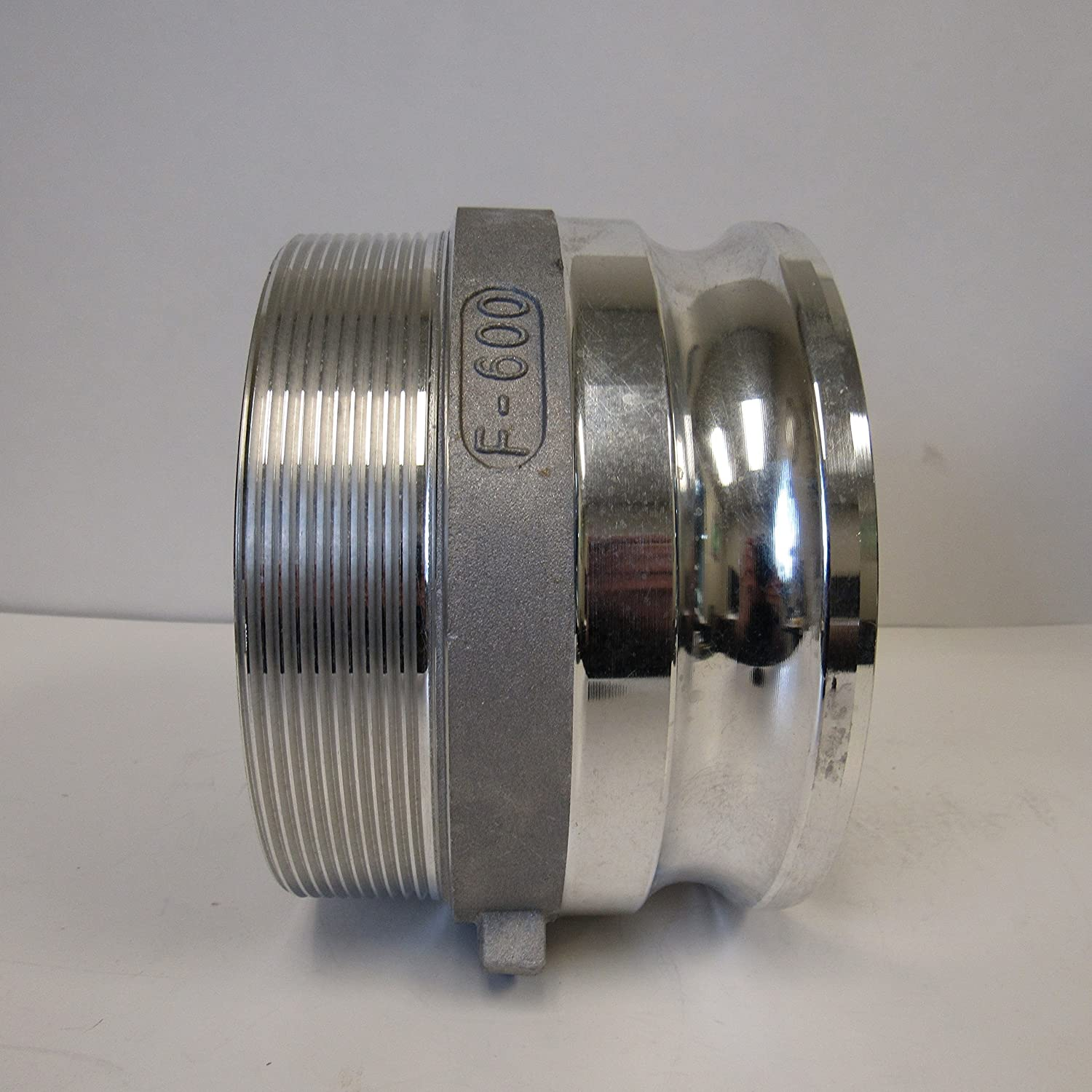 CAMLOCK 600F ALUMINUM CAM /& GROOVE FITTING; 6 INCH MALE ADAPTER// MALE NPT