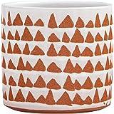 "Stone & Beam Modern Rustic Ceramic Planter, 5""H, White/Terra Cotta"