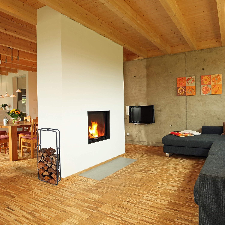 100 x 60 cm 100 x 60 x 25 cm Acero Relaxdays le/ñero Interior y Exterior Gris Antracita