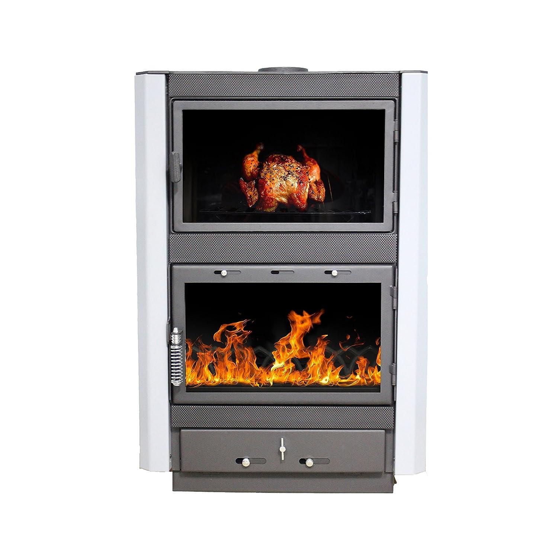 Estufa de leña Gerkand, modelo Augusta, salida de calor 13 kW: Amazon.es: Bricolaje y herramientas
