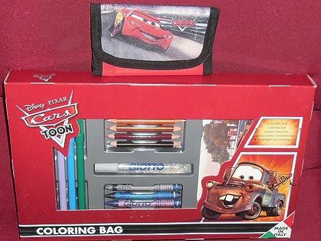 Box Scuola Walt Disney Pixar Cars Set Fila Con Colori Matite