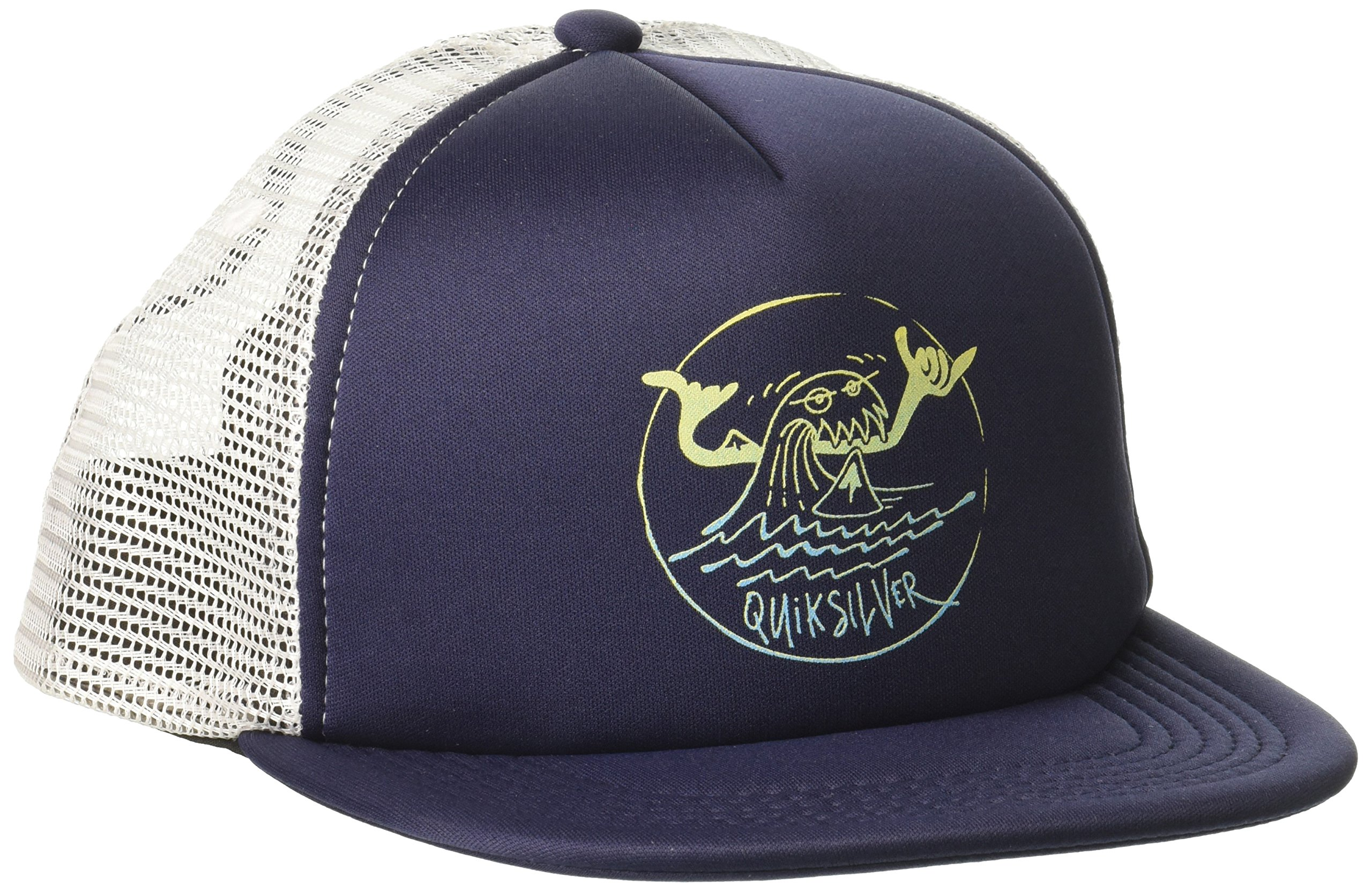 Quiksilver Big Boys' Mini Snarl Trucker Hat, Navy Blazer, 1SZ