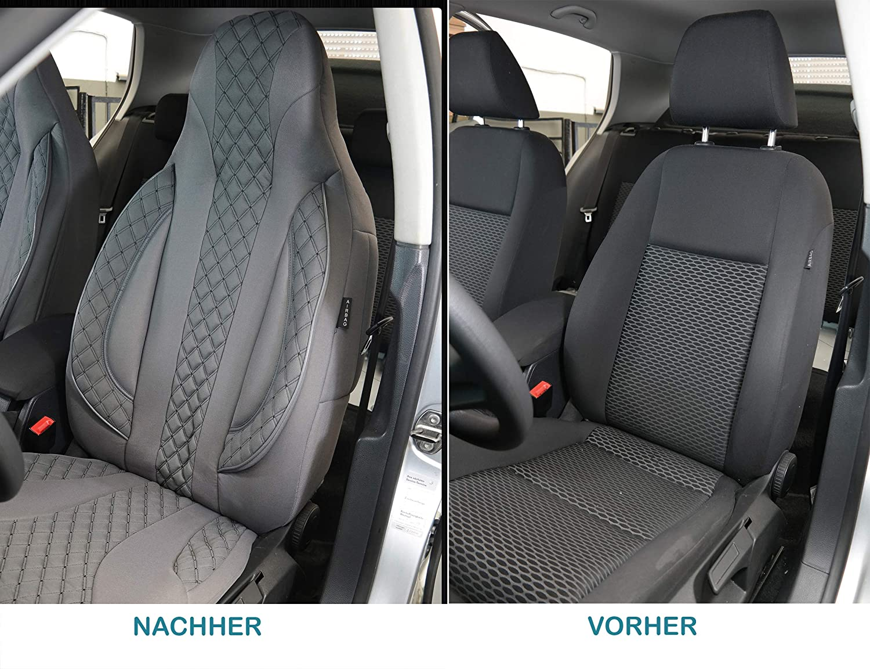 Ma/ß Sitzbez/üge kompatibel mit Citroen Jumper Typ 250 Fahrer /& Beifahrer ab 2006 FB:PL409