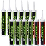 12 Pk Soundproofing Damping Compound and Acoustical Caulk Bulk Set - 10 Tubes Green Glue Noiseproofing Compound and 2 Tubes A