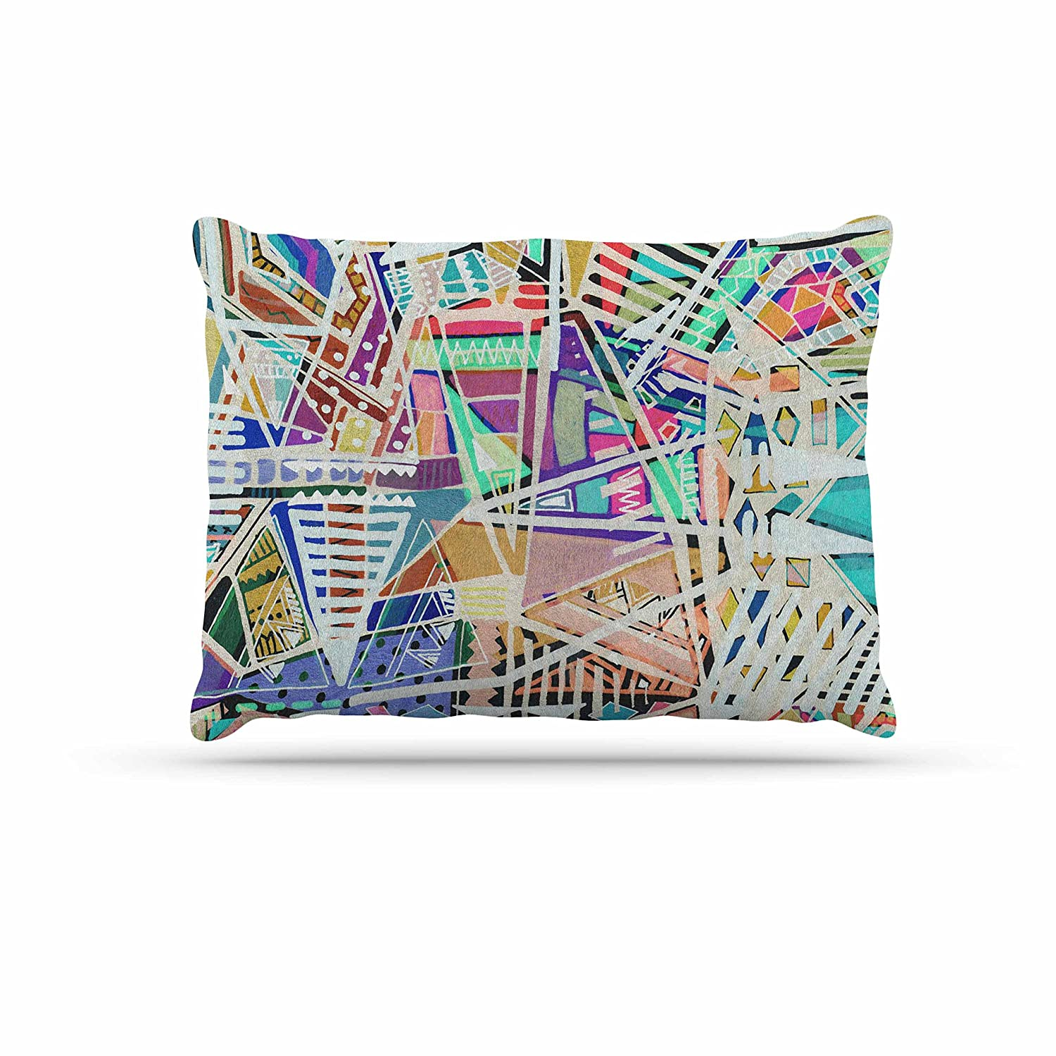 KESS InHouse Vasare NAR Abstract Geometric Playground Multicolor, Pastel Dog Bed, 50  x 40