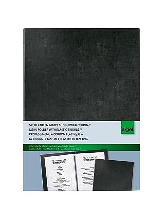 SIGEL SM115 Cubierta para carta-menú, para A5, negro 1 und ...