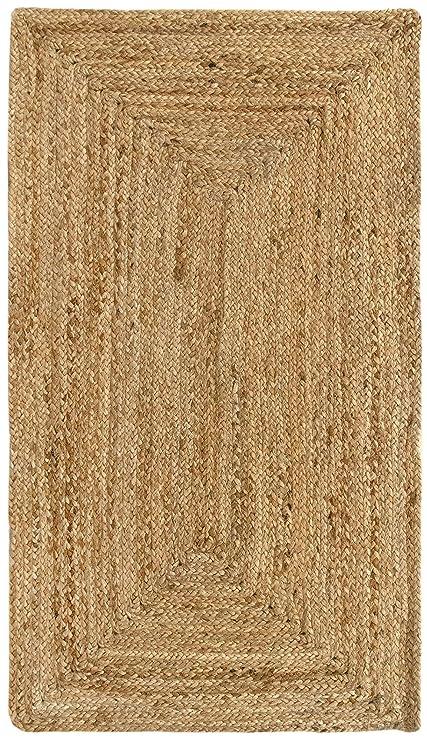 Hamid Tapis Jute Naturel Alhambra Tapis 100 Fibre De Jute Naturel 60x110cm 60x110cm