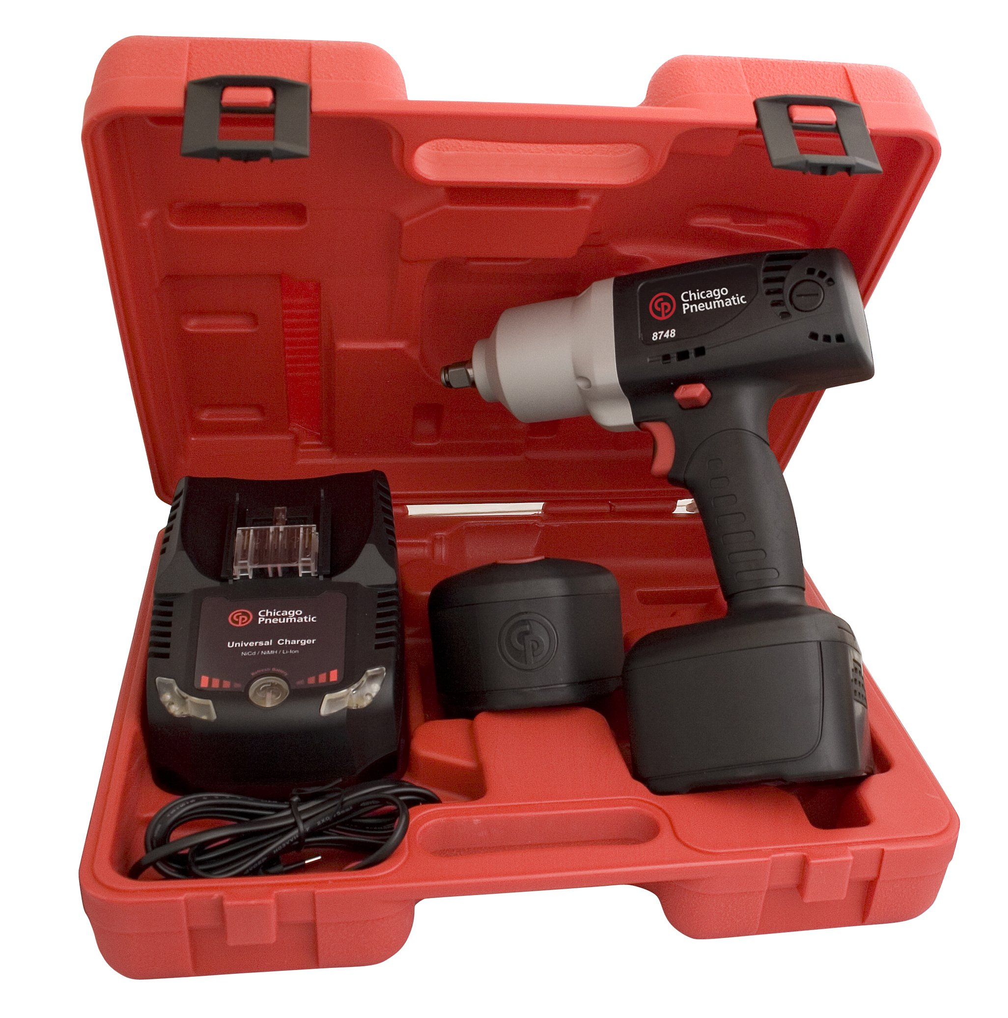 Chicago Pneumatic CP8748L 1/2-Inch 19.2 Volt Cordless Impact Wrench Kit with Lithium Batteries