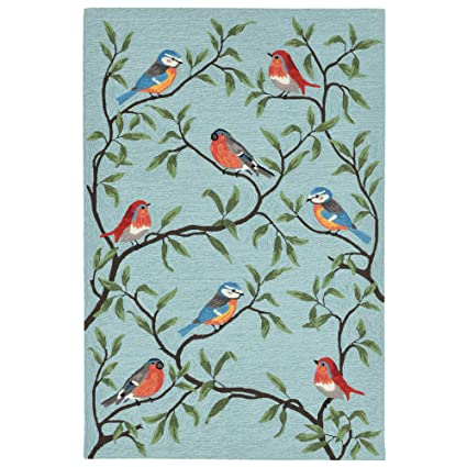 Amazon Com Liora Manne Ravella Birds On Branches Indoor Outdoor Rug