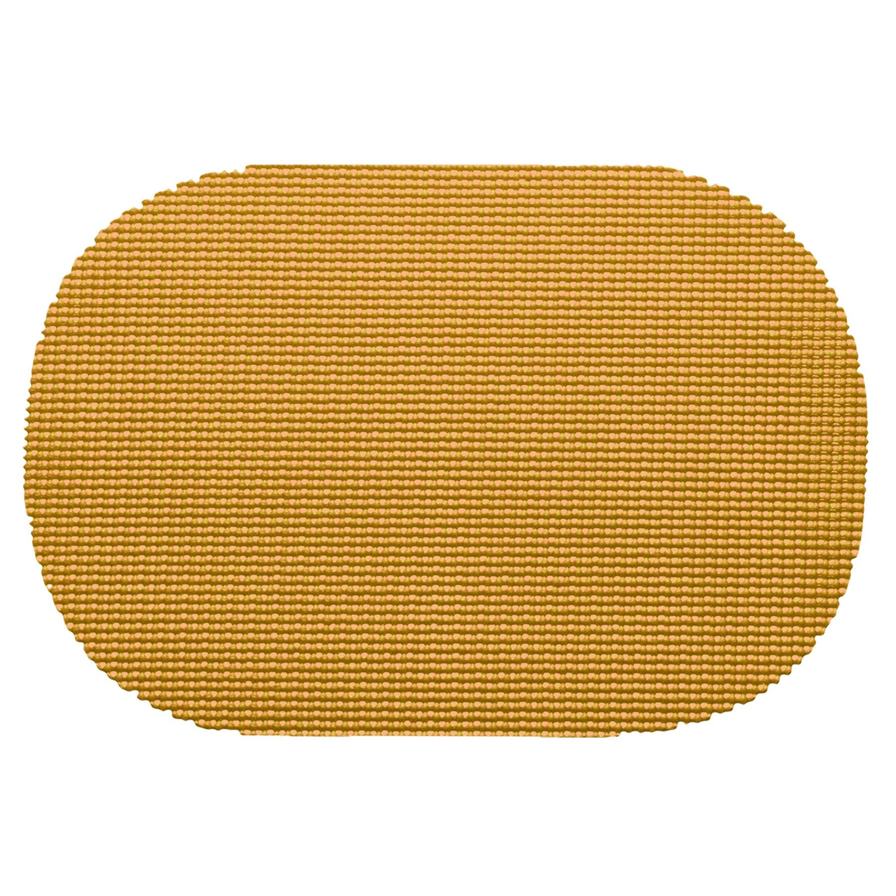 12 Piece Golden Placemats,(Set of 12), Machine Washable, Solid Pattern, Oval Shape, Contemporary And Traditional Style, Perfect For Everyday Entertaining, Season Or Holiday Lace Material, Yellow
