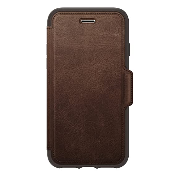 outlet store dfd94 8b3e6 OtterBox STRADA SERIES Case for IPhone 8 and IPhone 7 - Retail Packaging  (Brown)
